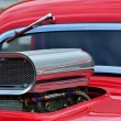 Stock Photo: Detail of air intake and windscreen on custom car