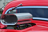 Detail of air intake and windscreen on custom car — Stock Photo
