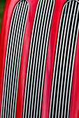 Red car radiator grill in portrait — Stock Photo