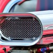 Stock Photo: Detail of air intake on cusom car