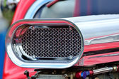 Detail of air intake on cusom car — Stock Photo