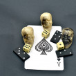 Dice skulls and dominoes on Ace — Stock Photo