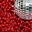 Stock Photo: Silver Bauble red beads
