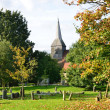 Stock Photo: English Churchyard in Autumn