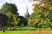 English Churchyard in Autumn — Stock Photo