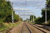 Linhas ferroviárias — Fotografia Stock
