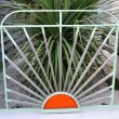 Stock Photo: Detail of Modernist gate