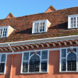 Stock Photo: Row of Tudor Windows