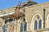 Church being repaired — Stock Photo