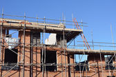 Red brick construction site — Stock Photo