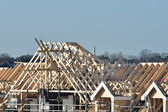Large Roof under construction — Stock Photo