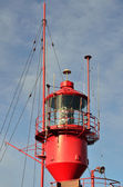 Red Lightship tower in Portrait — Stock Photo