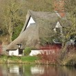 Stock Photo: Scenic river cottage suffolk