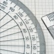 Protractor with triangle — Stock Photo