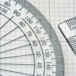Protractor with triangle — Stock Photo #39394363
