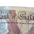 Stock Photo: Detail of English bank note