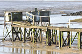 Ramshackle pier — Stock Photo