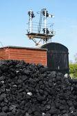 Steam railway scène — Stockfoto