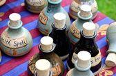 Small group of spell bottles — Stock Photo