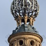 Globe on coliseum London — Foto de Stock