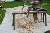 Old style carpenters bench — Stock Photo