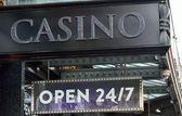 Casino Sign open twenty four hours — Stock Photo