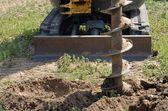挖掘机施工钻 — 图库照片