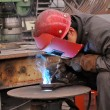 Welding polished - Stock Photo