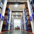 Foto Stock: Logistics shelves