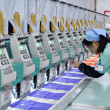 Production line workers — Stock Photo