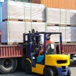 Container forklift - Stock Photo