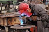 Welding polished — Stock Photo