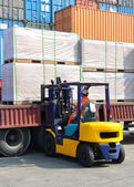 Container forklift — Photo
