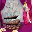 Wedding champagne tower — Stockfoto