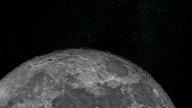Approaching the Moon — Stock Video