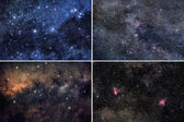 Space backgrounds set — Stockfoto