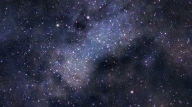Space journey seamless loop — Stock Video