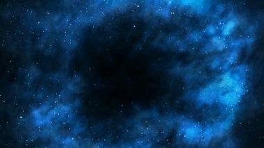 I ett svart hål — Stockvideo