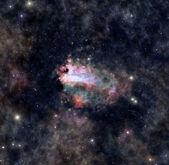 Distant space nebula — Stock Photo
