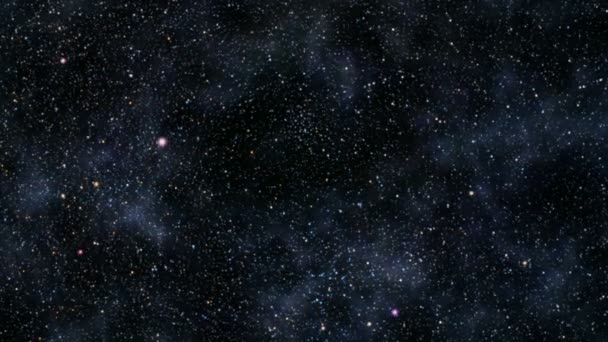 Flight through star field — Vidéo
