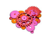 Gears heart — Stock Photo