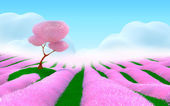 Pink fantasy landscape — Stock Photo
