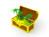 Chest with palms — Stock Photo