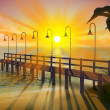 Tropical pier at dusk — Stock Photo #20310997