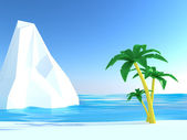 Strand met witte klif — Stockfoto