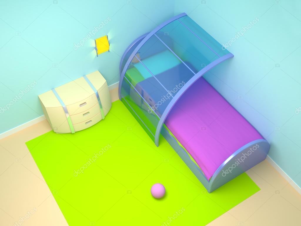 Futuristiska barn sovrum — stockfotografi © ilterriorm #21588151