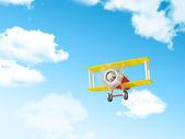 Kreskówka samolotem — Zdjęcie stockowe