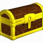 Antique closed chest — Stock Photo