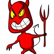 Stock Photo: Red devil