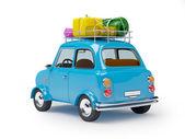 Small car adventure back — Stock Photo